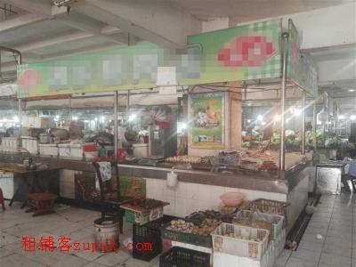 万人成熟小区菜市场45㎡水产店转让