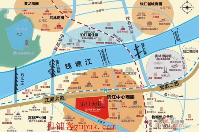 滨江龙湖天街春江丽城交汇处120方商铺出租,欲租从速