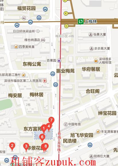 地铁口二楼临街商铺/裙楼