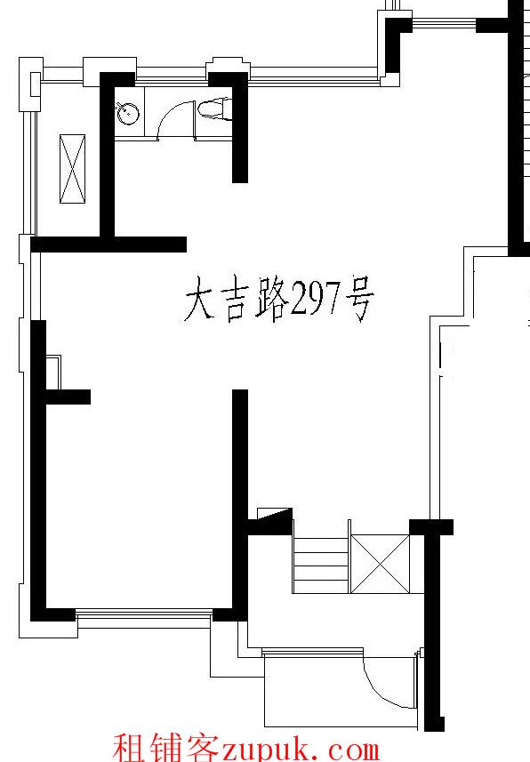 ★老西门双路口2开间底层商铺★6.3米挑高,紧挨肇周路