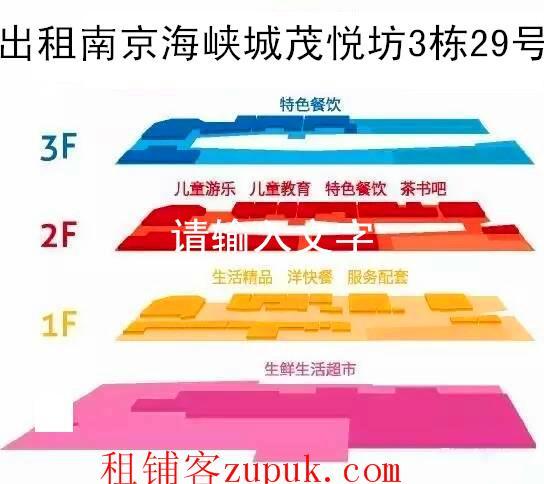 南京河西南海峡城茂悦坊270平出租13057586686