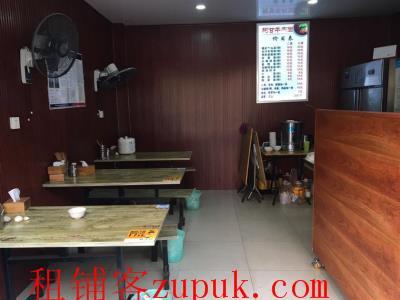 九龙坡餐饮一条街35㎡临街面馆转让!