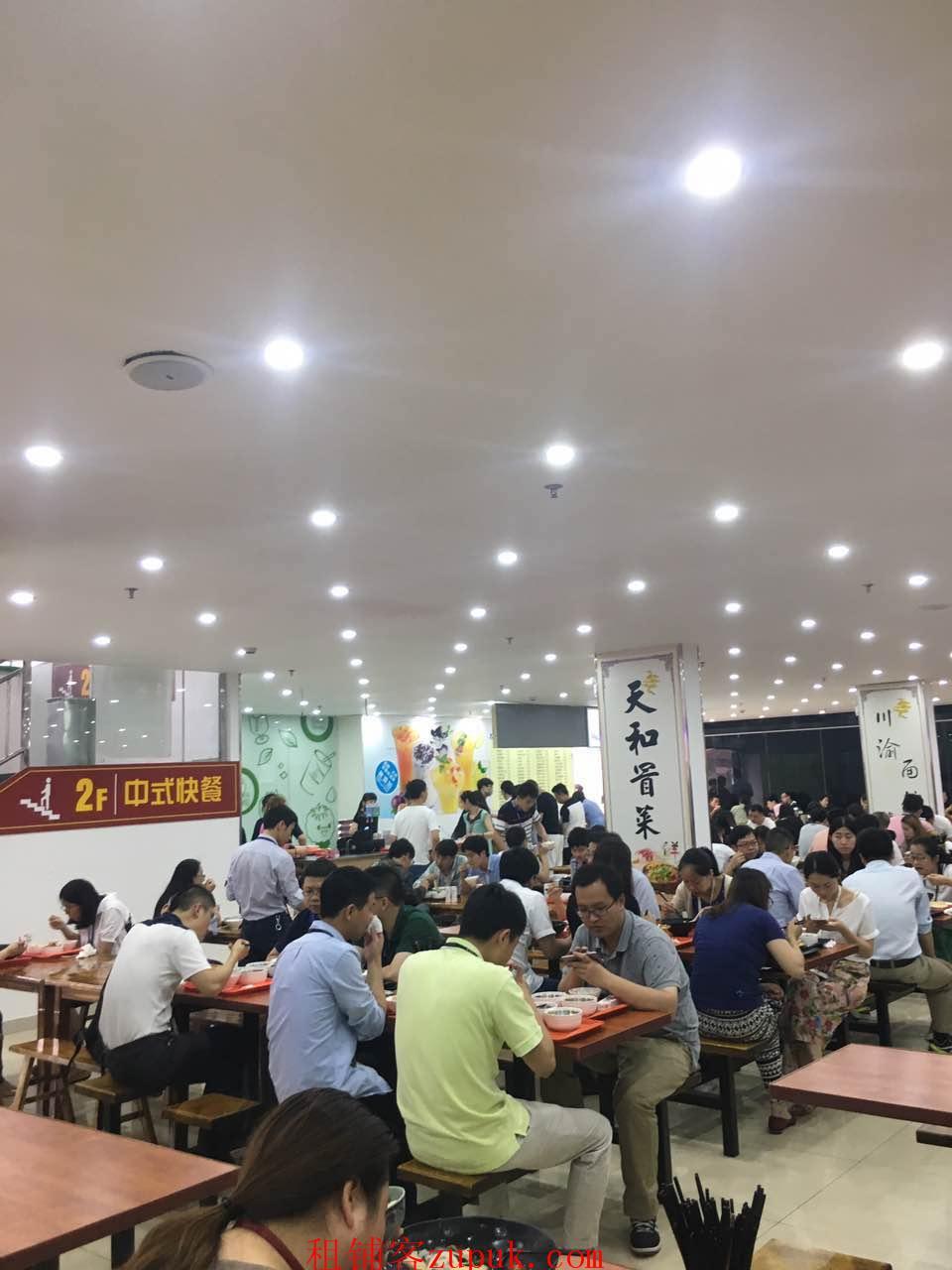 浦东外高桥创意园一楼旺铺 6万人员办公 饭点人挤人