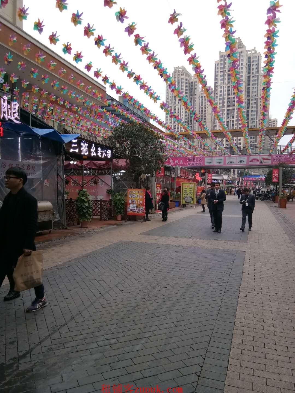 巴南万达广场金街盈利中店铺转让,近50平米外摆区,可空转