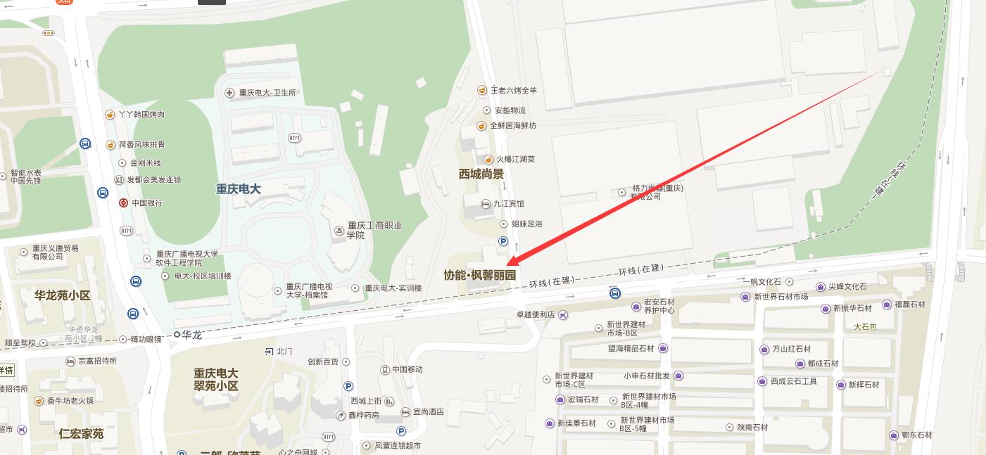 九龙坡区协能枫馨丽园门面出租