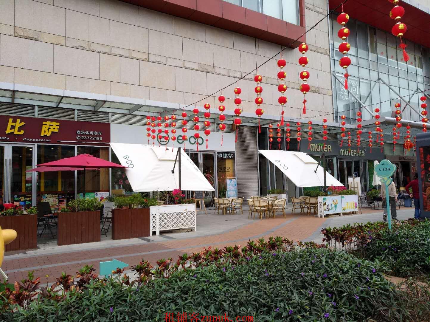 深圳西部最大型购物中心同泰时代广场一楼临街旺铺转让