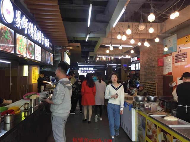 广埠屯商圈临街美食城酒楼整体加优质五个门面转让
