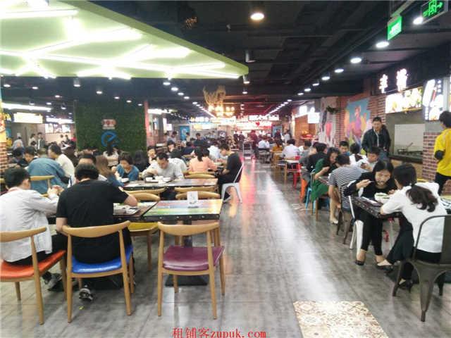 宝龙城美食街适合奶茶小吃咖喱饭等 可重餐饮