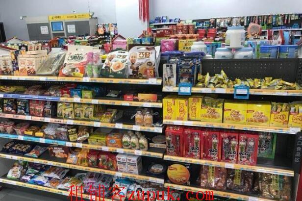 大型小区入口第一个门面220㎡超市转让