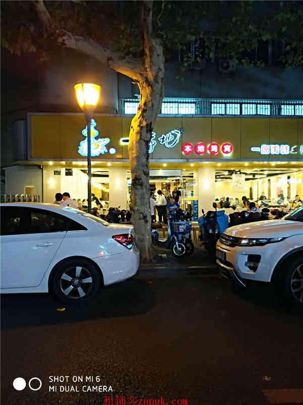 上城区湖滨成熟商圈沿街十字路口美食档口 人流不断