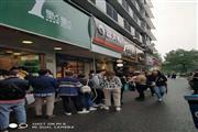 临平北大街银泰核心商圈沿街美食档口临步行街人流超大