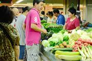 真如菜市场门面招 水产蔬菜 干货 餐饮小吃数量不多