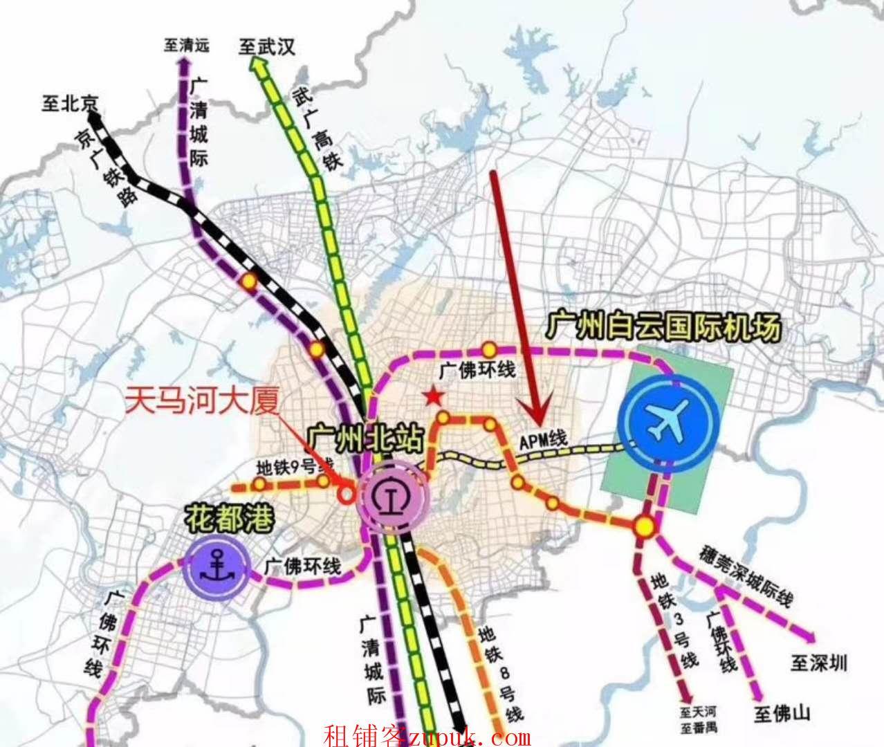 广州花都汽车城地铁旺铺招租!你敢来看,我就敢免租!