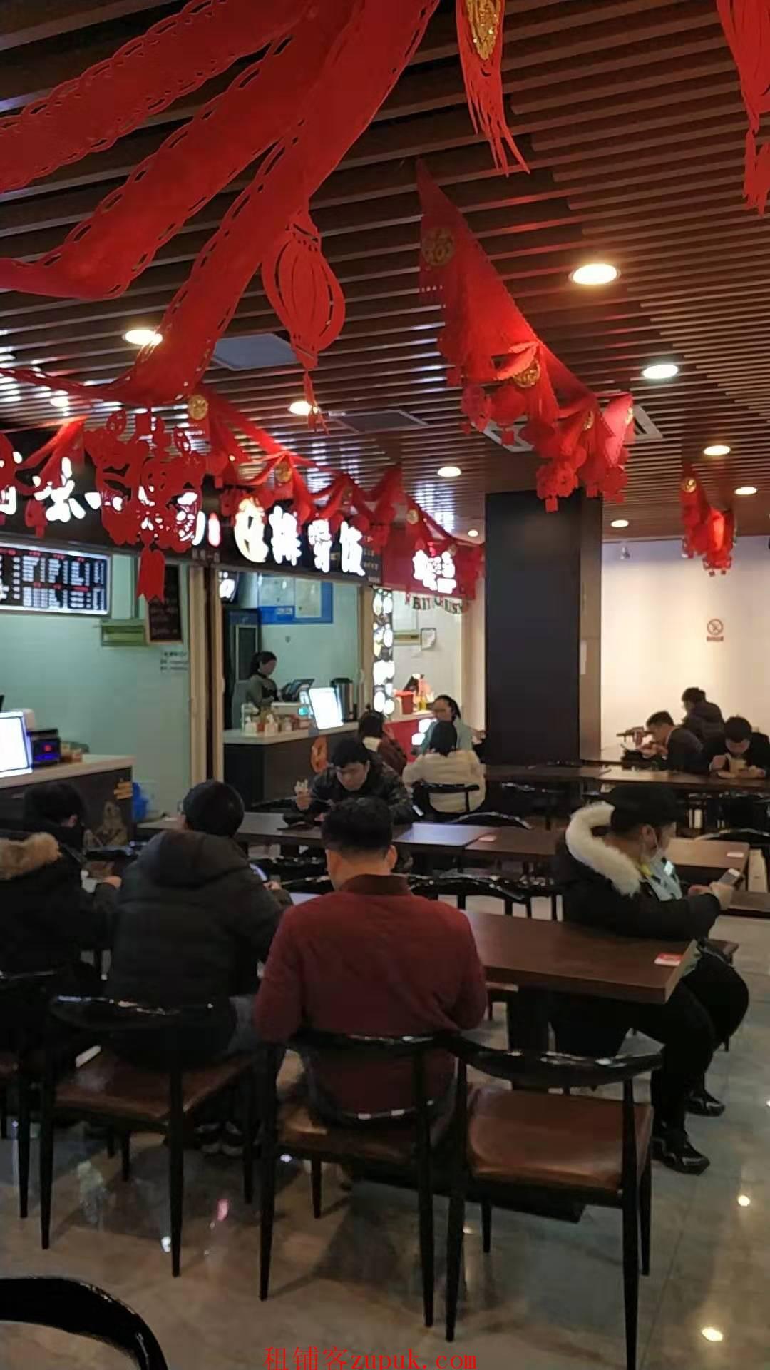 钱江新城写字楼一楼餐饮美食档口 排队就餐 消费力强