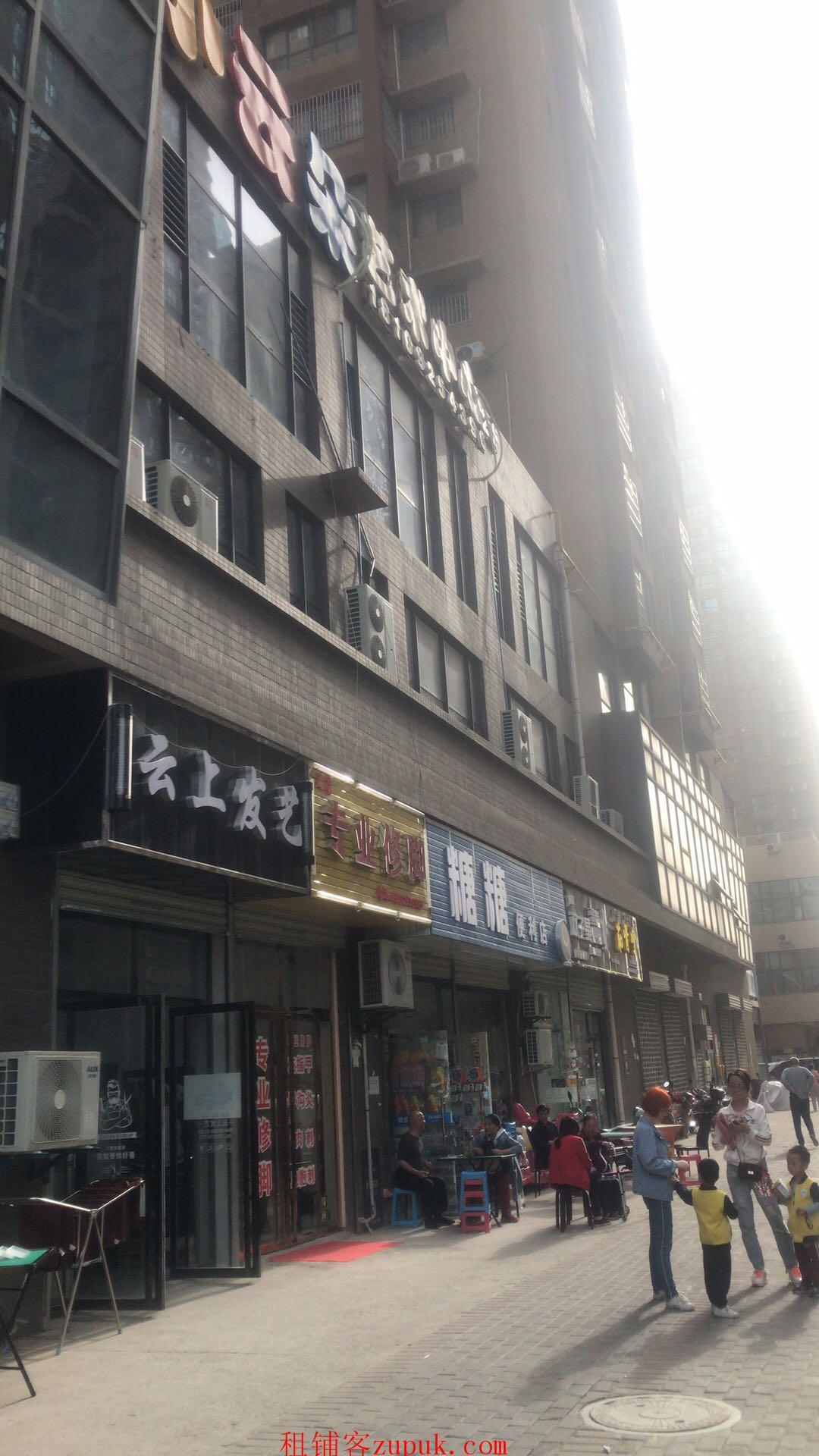 纺织城地铁口100平纯一楼临街无转让费可明火