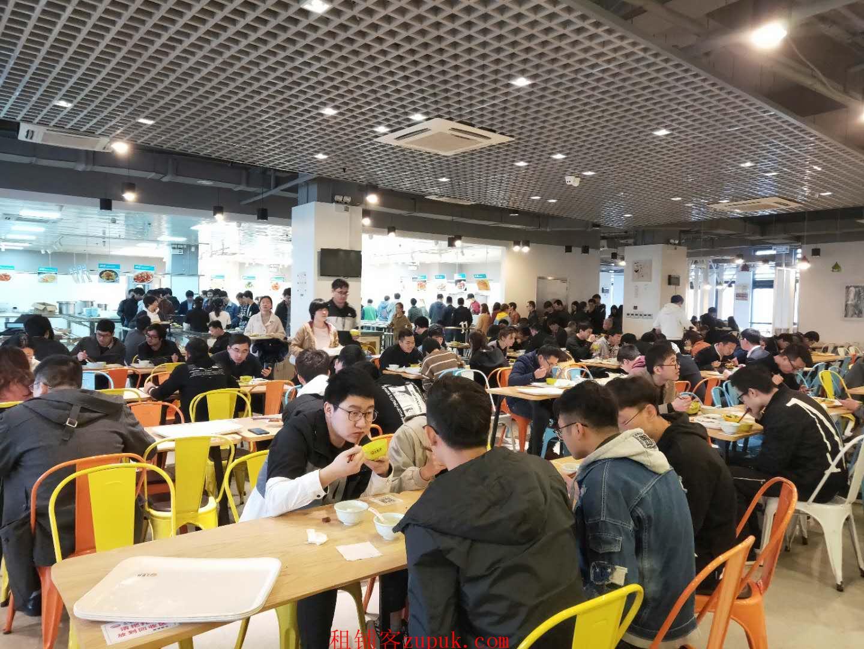 西湖区三墩万人园区一楼餐饮小吃旺铺 执照齐全 排队就餐
