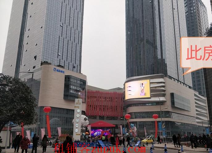 重庆杨家坪中迪广场公寓出租 5.2米层高 电梯口旁