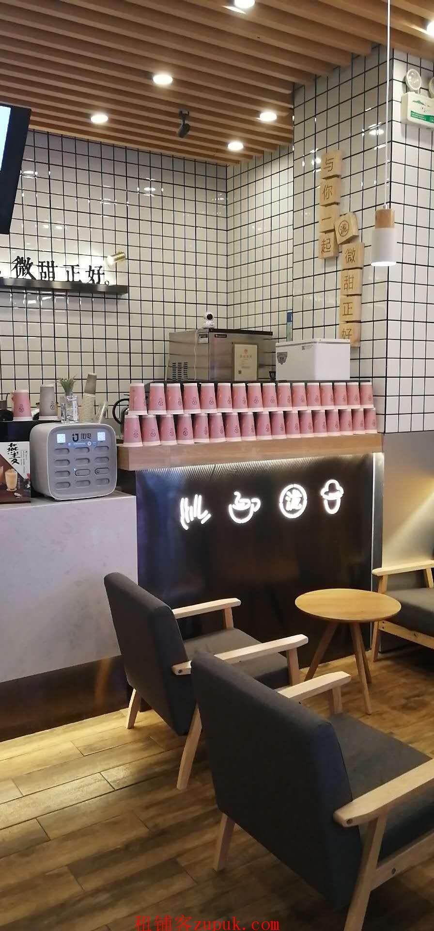 (转让) 品牌奶茶店万商场内有稳定客源设备整体转让