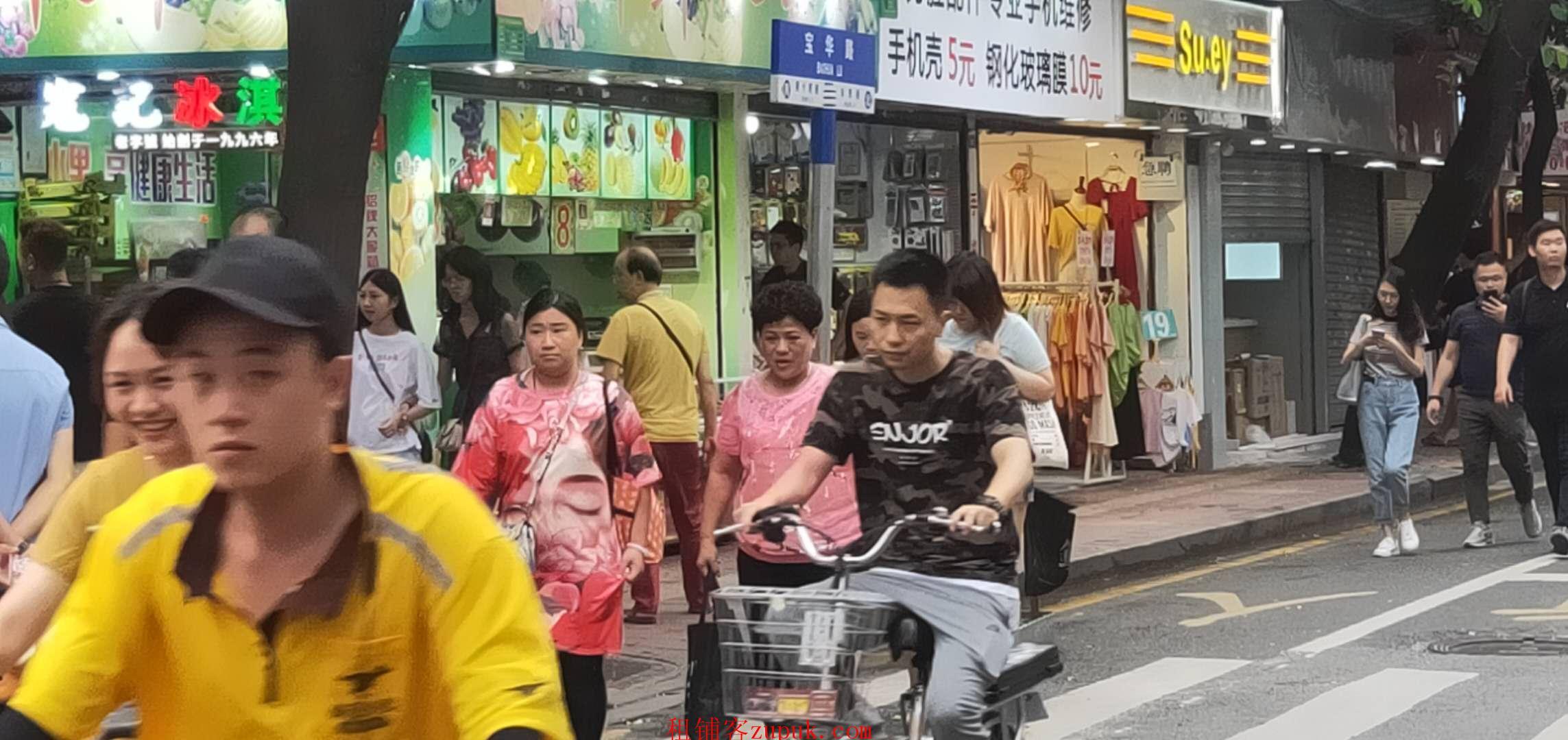 江南西地铁站商圈,小吃店门口人超多,生意好做业态不限