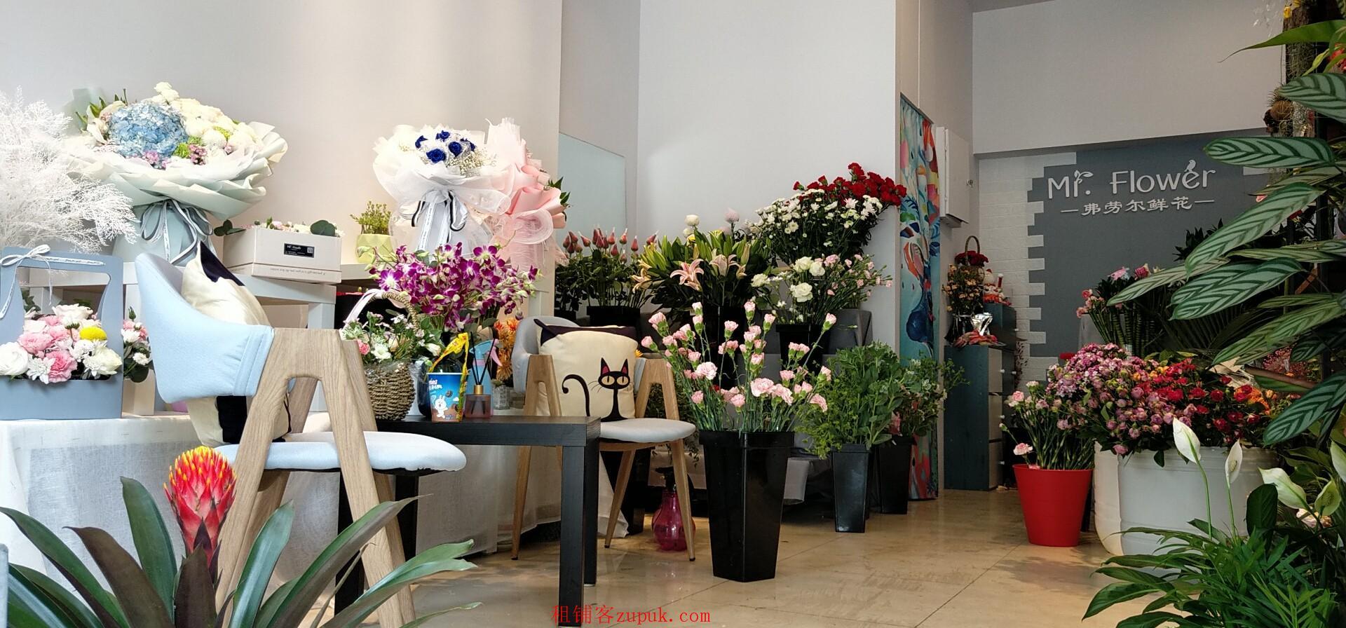 营利鲜花店转让、双小区门口