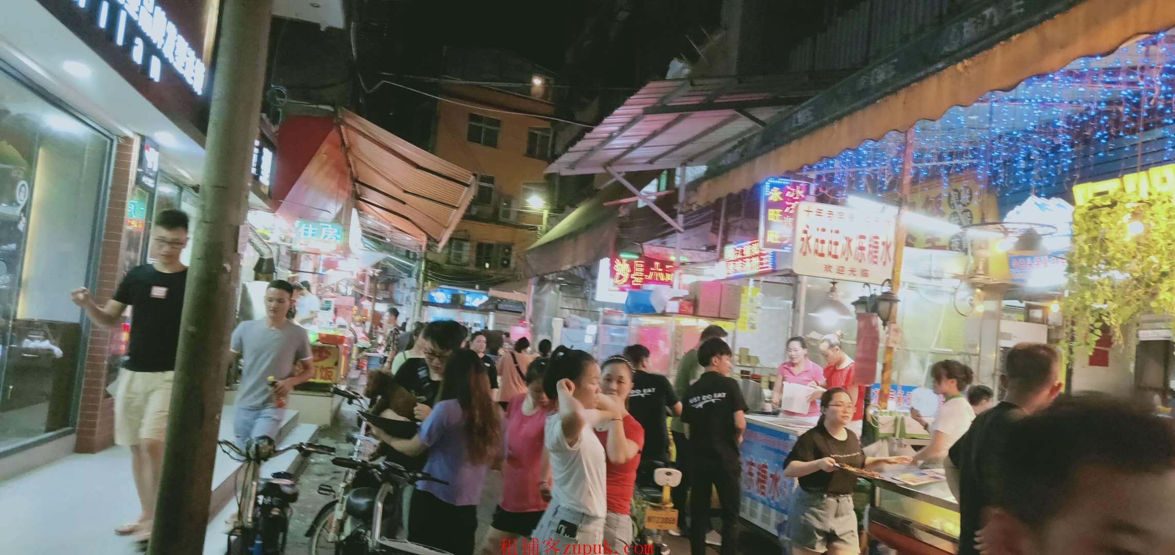 花地湾街1楼人超多,可各种小吃餐饭串串香,粥,门口人超多1