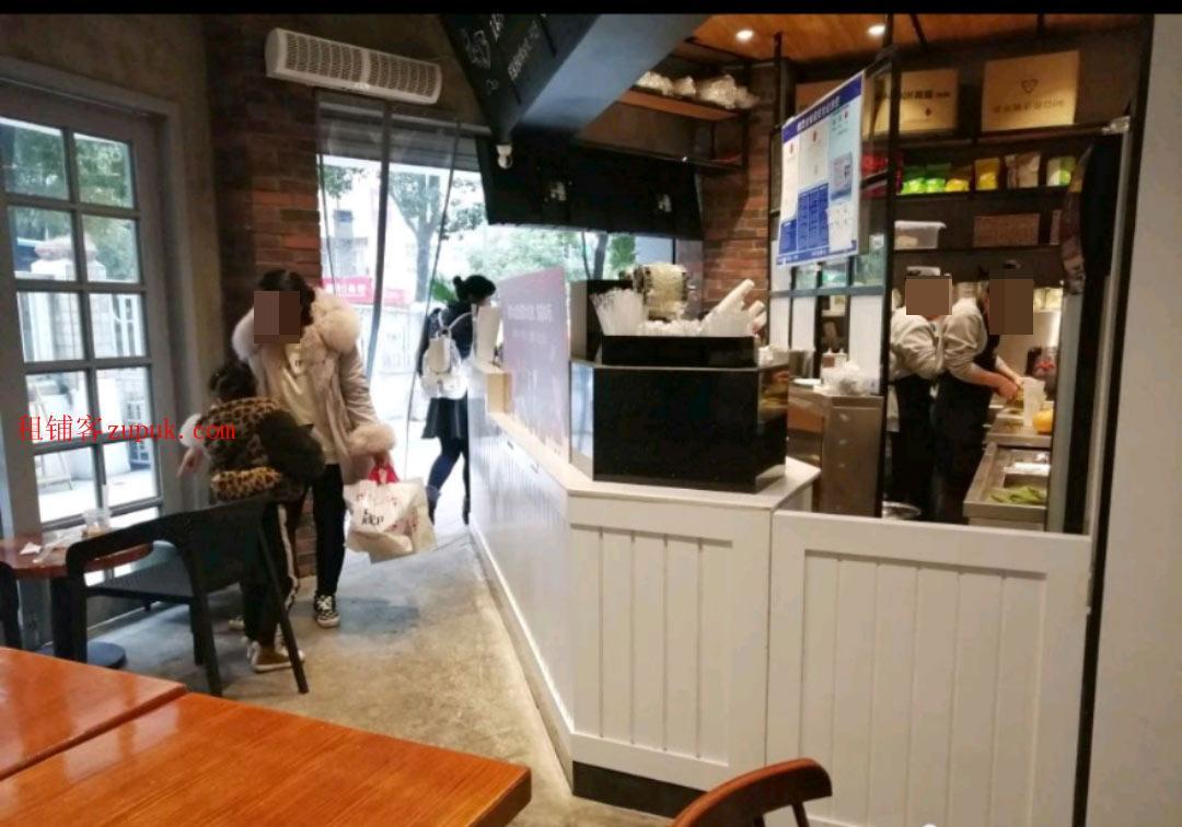 小十字当街营业中旺铺奶茶店生意转让,可空转