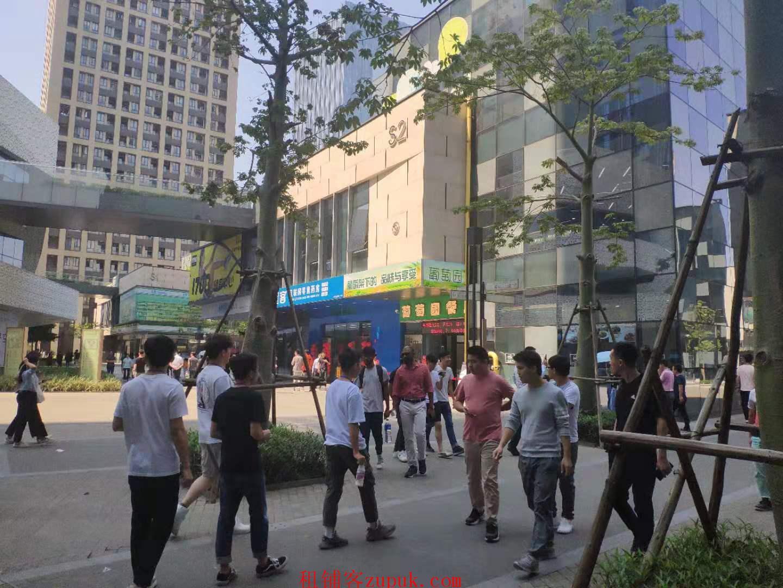 绿地中央广场旺铺,3万人办公,可重餐饮,纯一楼