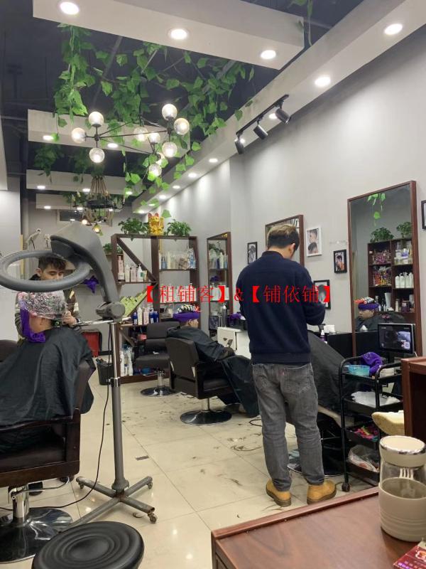 大型成熟社区临街美发店转让