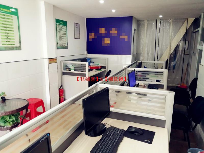 房产中介门店,带办公桌椅和电脑等全1套设施一起转