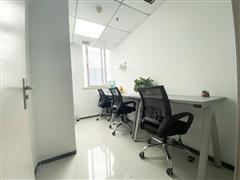 市中心2号线地铁口 精装3到4人办公室招租 费用全包