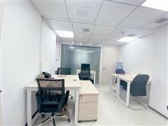 杭州市中心板块2号线地铁口精装4到6人办公室招租 费用全包