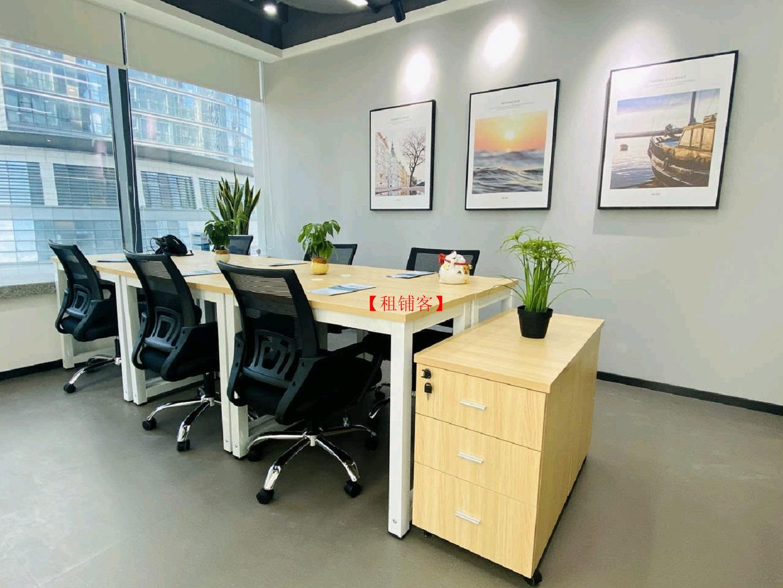 益乐创富大厦地铁口地铁旁精装3人精装办公室出租 拎包办公